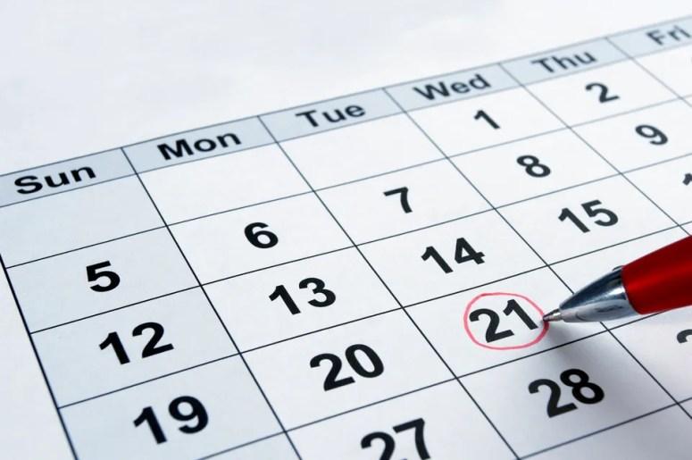 Zistig im Kalender markiere