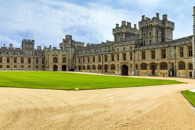 The exterior of Windsor Castle, England
