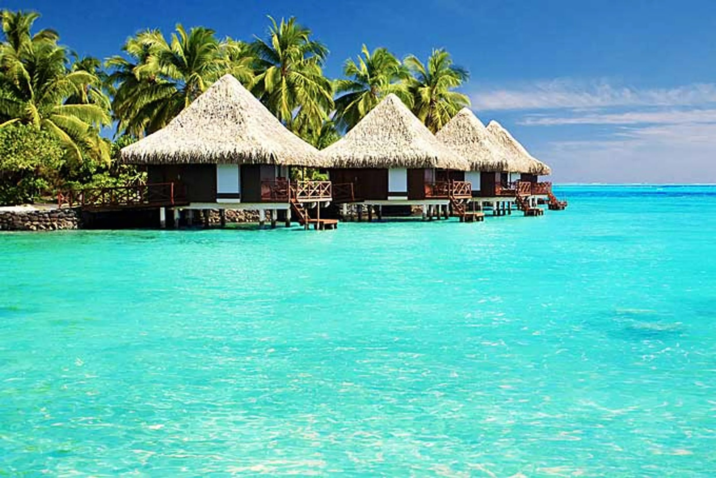 luxury huts, Maldives