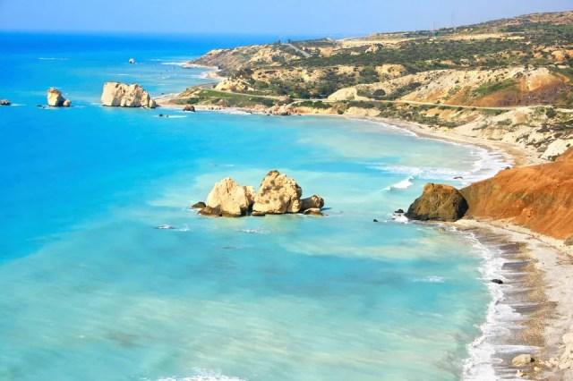 Paphos beach and coastline