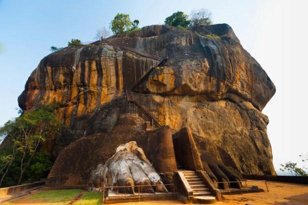 Sigiriya, um dos sítios arqueológicos mais interessantes do mundo, fica no Sri Lanka.