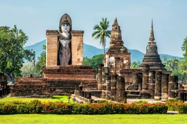 O Parque Sukhothai, na Tailândia, é um dos sítios arqueológicos mais impressionantes do mundo.