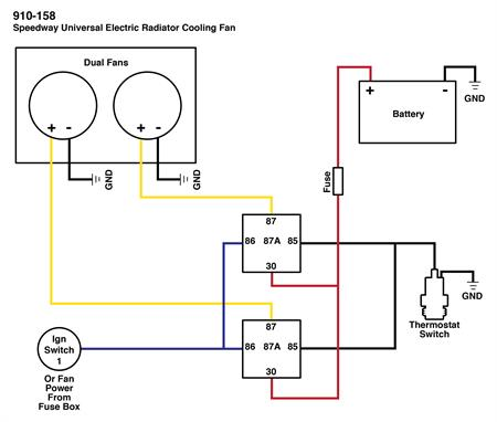 spal thermo fan wiring diagram bt master socket nte5 dual electric schematic fans with these wired up you can