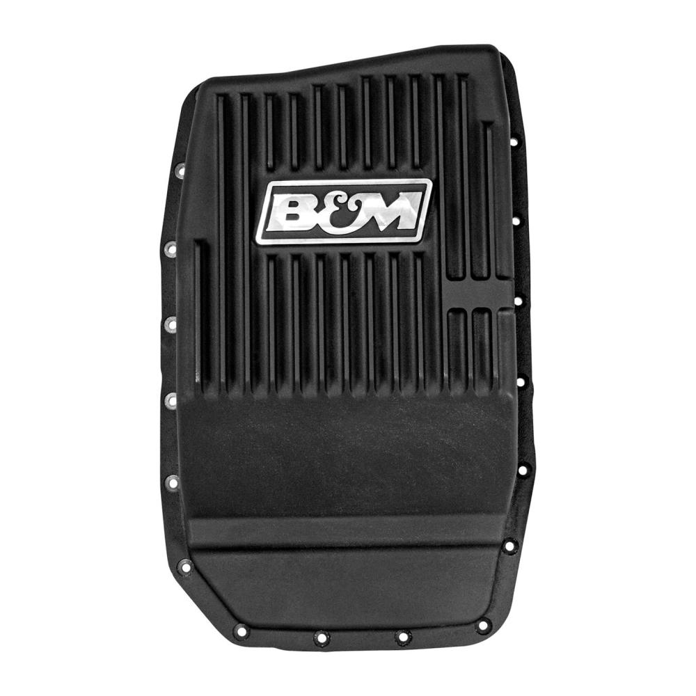 medium resolution of  ford b m 70394 cast alum trans pan for ford 6r80 black anodized on ford transmission crossmember