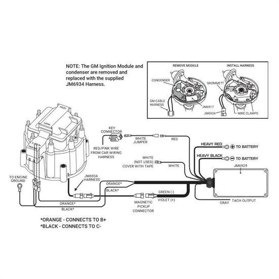 HEI Distributor w/Super Cap, SBC Small Block Chevy, Black