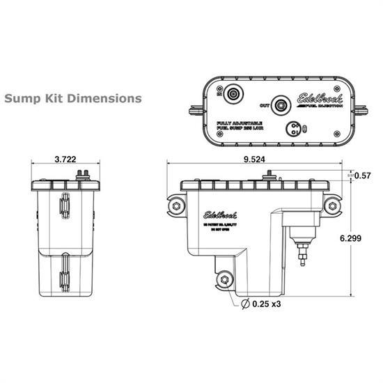 Edelbrock 36032 Adjustable Universal EFI Sump Fuel Tank