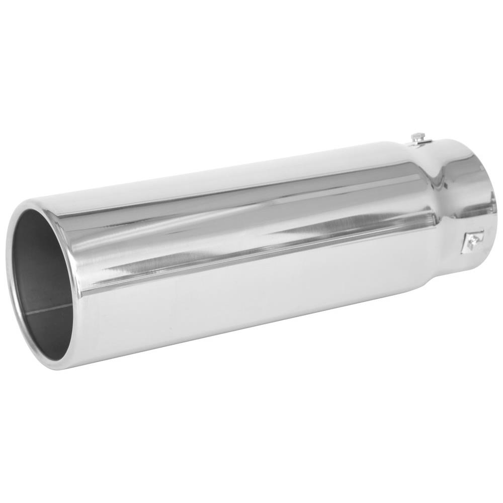 spectre 22431 exhaust tip stainless 3 75 inlet 4 5 outlet straight