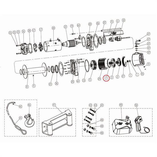 Smittybilt 97495-07 Gear Carrier Anti Friction Cushion