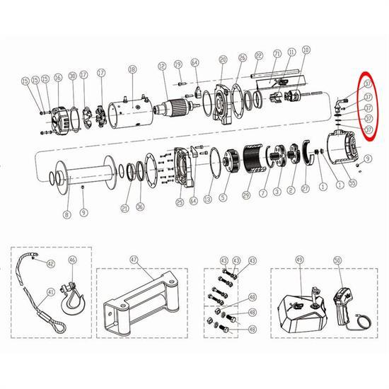 Smittybilt 97495-37 Clutch Handle Assembly