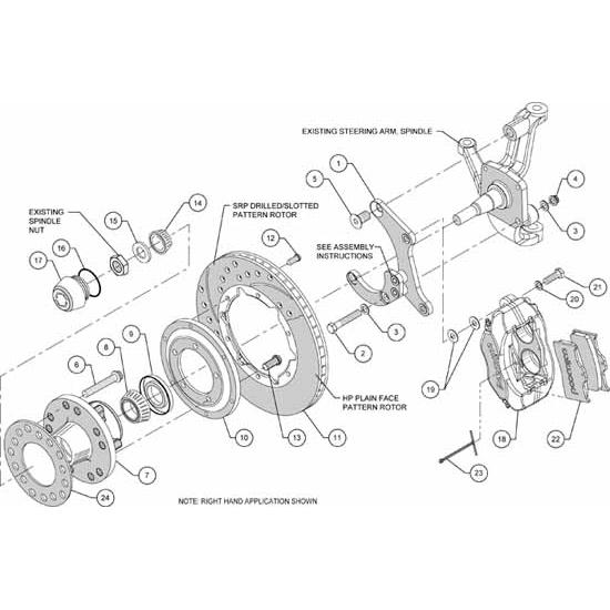 Wilwood 140-11491 FDLI Pro Series Front Disc Brake Kit