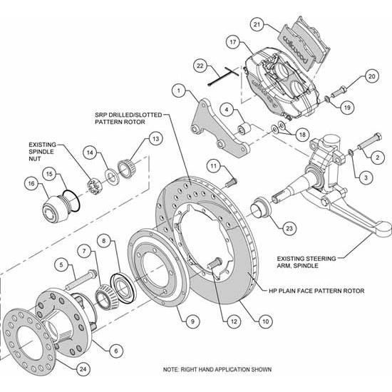 Wilwood 140-11811 FDLI Front Disc Brake Kit, 49-54 Chevy