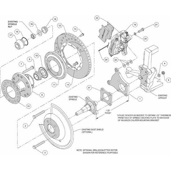 Wilwood 140-11940-R FDLI Pro Series Front Disc Brake Kit