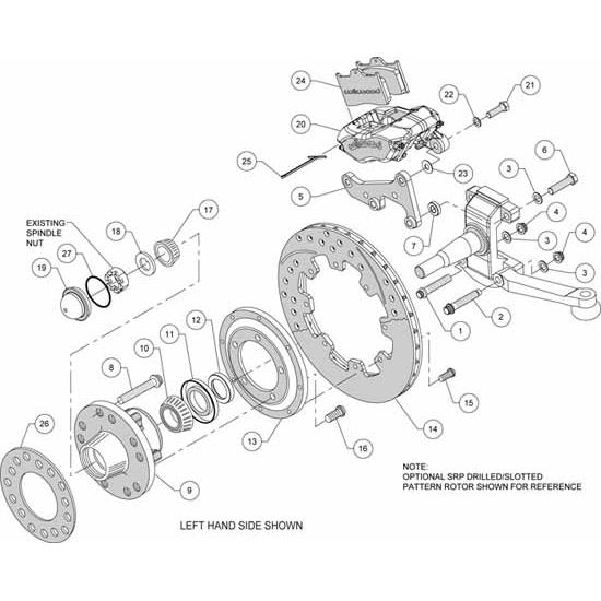 Wilwood 140-12649-DR FDLI Pro Series Front Brake Kit, 1941