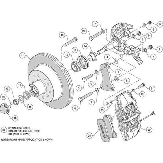 Wilwood 140-14974-R Classic Series Dynapro 6 Front Brake