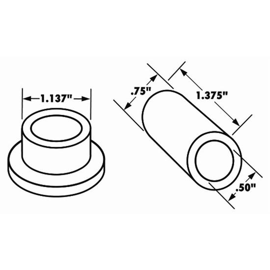 Speedway Motors Four-Bar Rod End Plastic Bushing Kit for 1