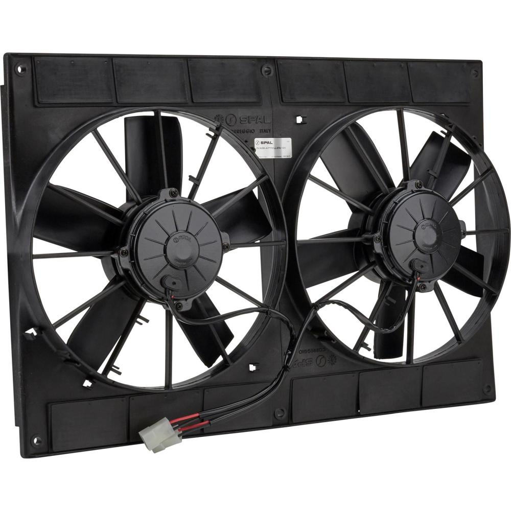 medium resolution of spal 30102052 dual electric cooling fan straight blade 11 inch wiring diagram 11 spal dual fans