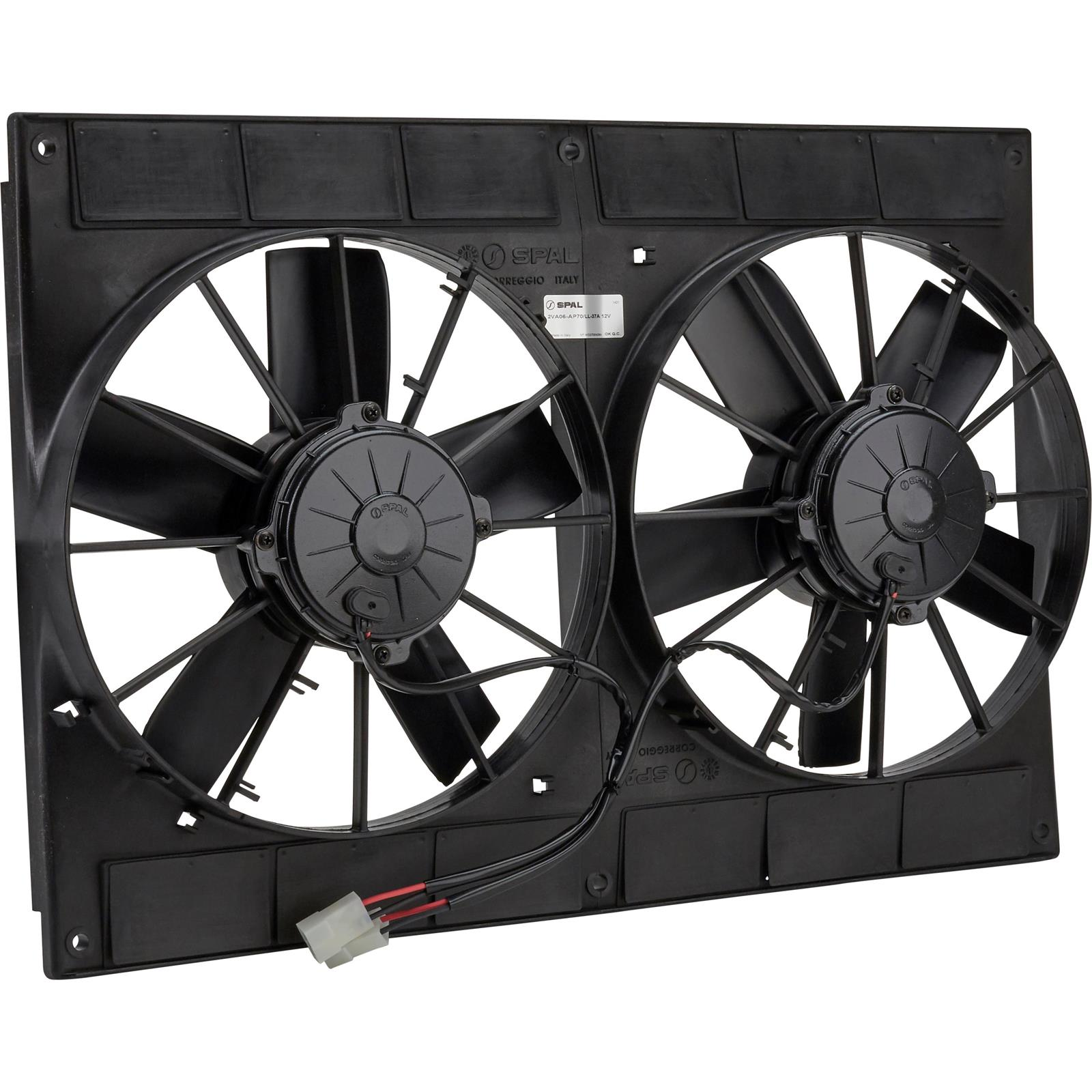 hight resolution of spal 30102052 dual electric cooling fan straight blade 11 inch wiring diagram 11 spal dual fans