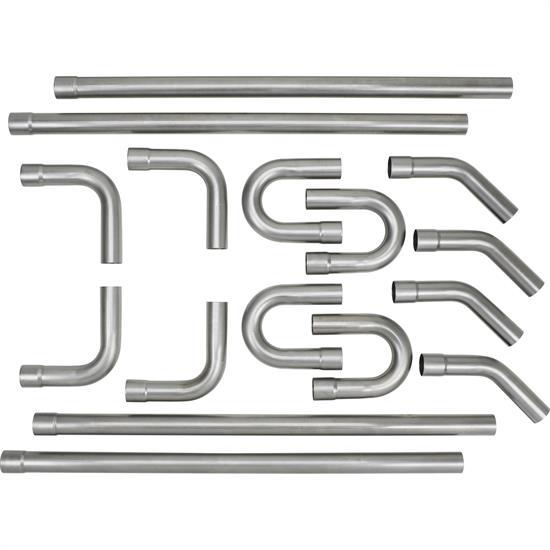 universal mild steel dual exhaust mandrel bend kit 2 1 4 inch