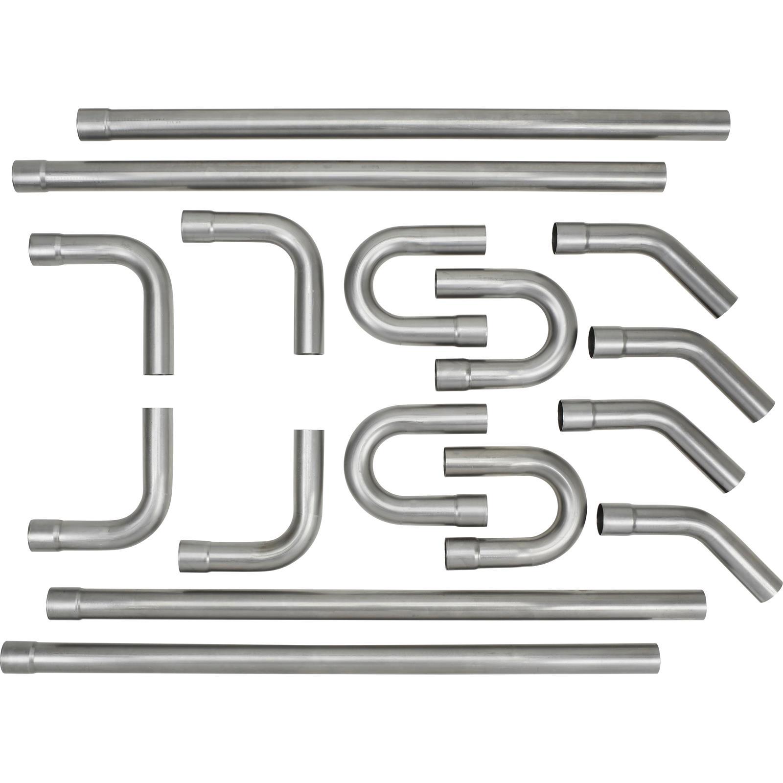universal mild steel dual exhaust mandrel bend kit 2 1 2 inch