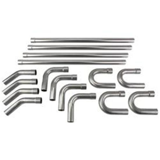 universal stainless steel dual exhaust mandrel bend kit 2 1 4 inch