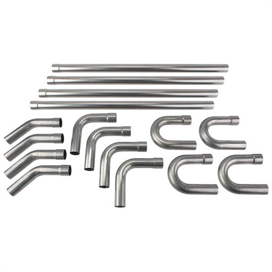 universal stainless steel dual exhaust mandrel bend kit 2 1 2 inch