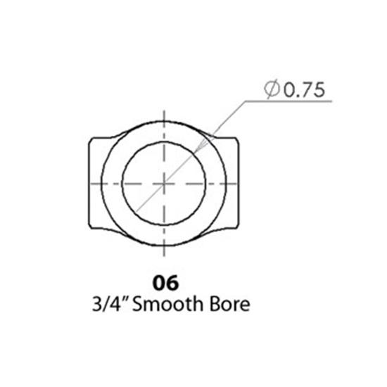 Sweet Mfg. U-Joint, 3/4 Inch-20 Spline to 3/4 Inch Round