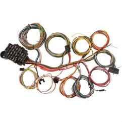 1955 Chevy Horn Relay Wiring Diagram Club Car Wire Shop Vehicle Harness Kit Speedway Universal 22 Circuit Fit Number Of Circuits Fuse Block Included Compatible With Gm Column