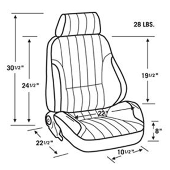 Scat Procar Rally Series 1000 Bucket Seat, Drivers Side