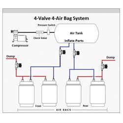 AVS AVS-VAL38 250 PSI 3/8 Inch Air Suspension Intake