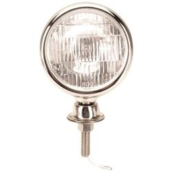 Stainless Steel Tear Drop 12 Volt Fog Light, Amber Lens