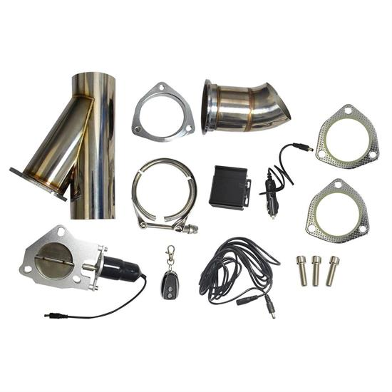 universal 3 inch remote control electric exhaust cutout kit