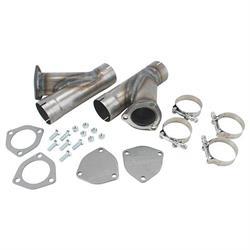 diy universal dual exhaust system kit w cutouts mufflers 3 in