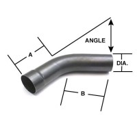 Mild Steel Mandrel Bend Exhaust Elbow Pipe, 90 Degree, 3