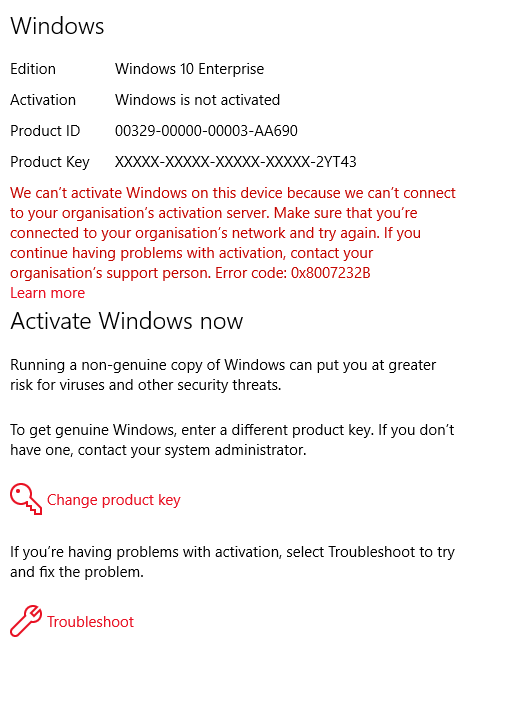Cannot Activate Because This Product Is Incapable Of Kms Activation : cannot, activate, because, product, incapable, activation, SOLVED], Windows, Enterprise, Needs, Activating