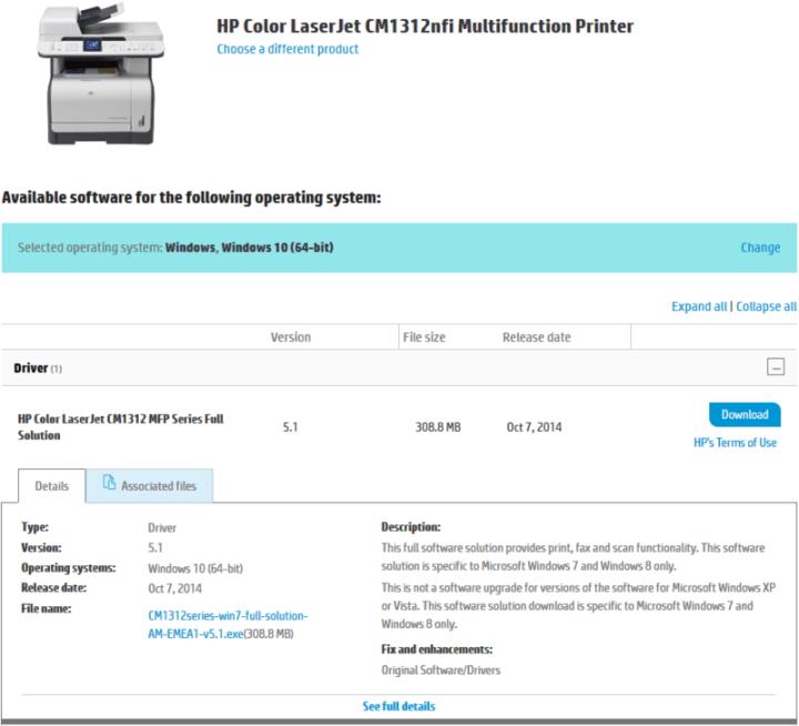 Hp Color Laserjet Cm1312nfi Mfp Scanner Driver Windows 7