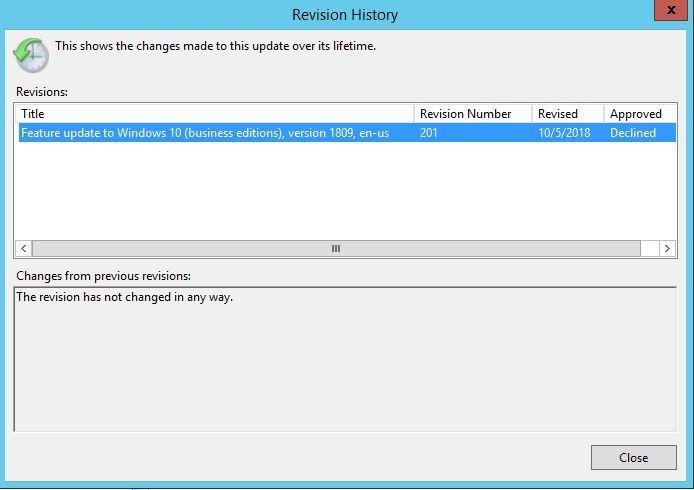 Windows 10 1809 Pulled - WSUS Forum - Spiceworks