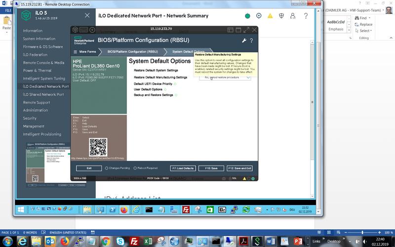 NVRAM reset on HPE ProLiant Gen9/Gen10 Server - HPE Hardware - Spiceworks