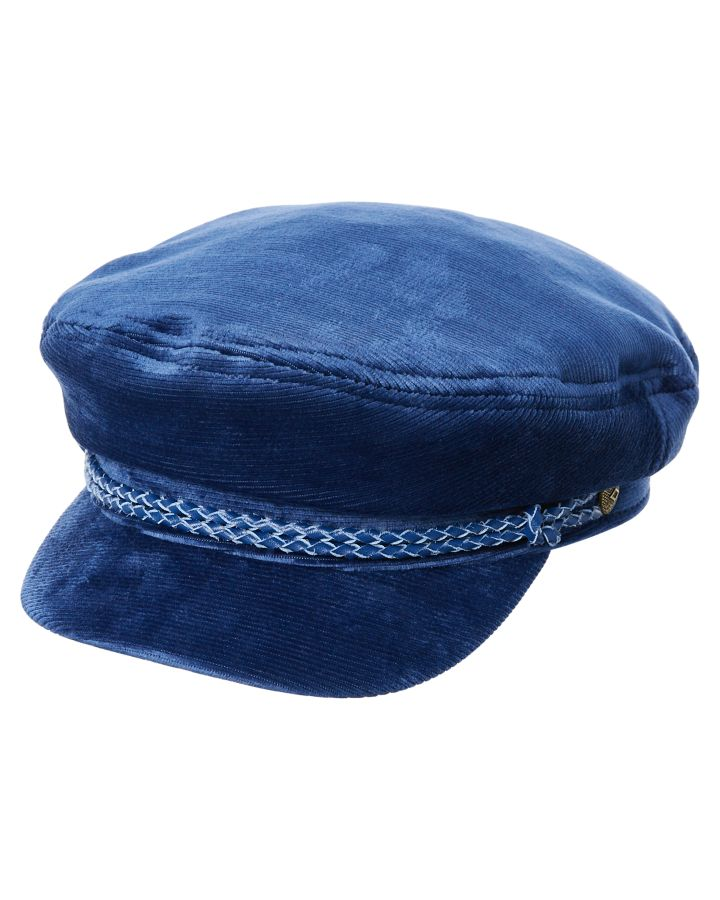 9584fb8c3c936 Brixton Womens Fiddler Cap Blue Cord Womens Accessories Other Size L ...