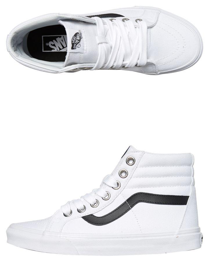 79177a6fb0c214 Vans Womens Sk8 Hi Reissue Shoe True White Womens Sneakers Size 8.5 ...