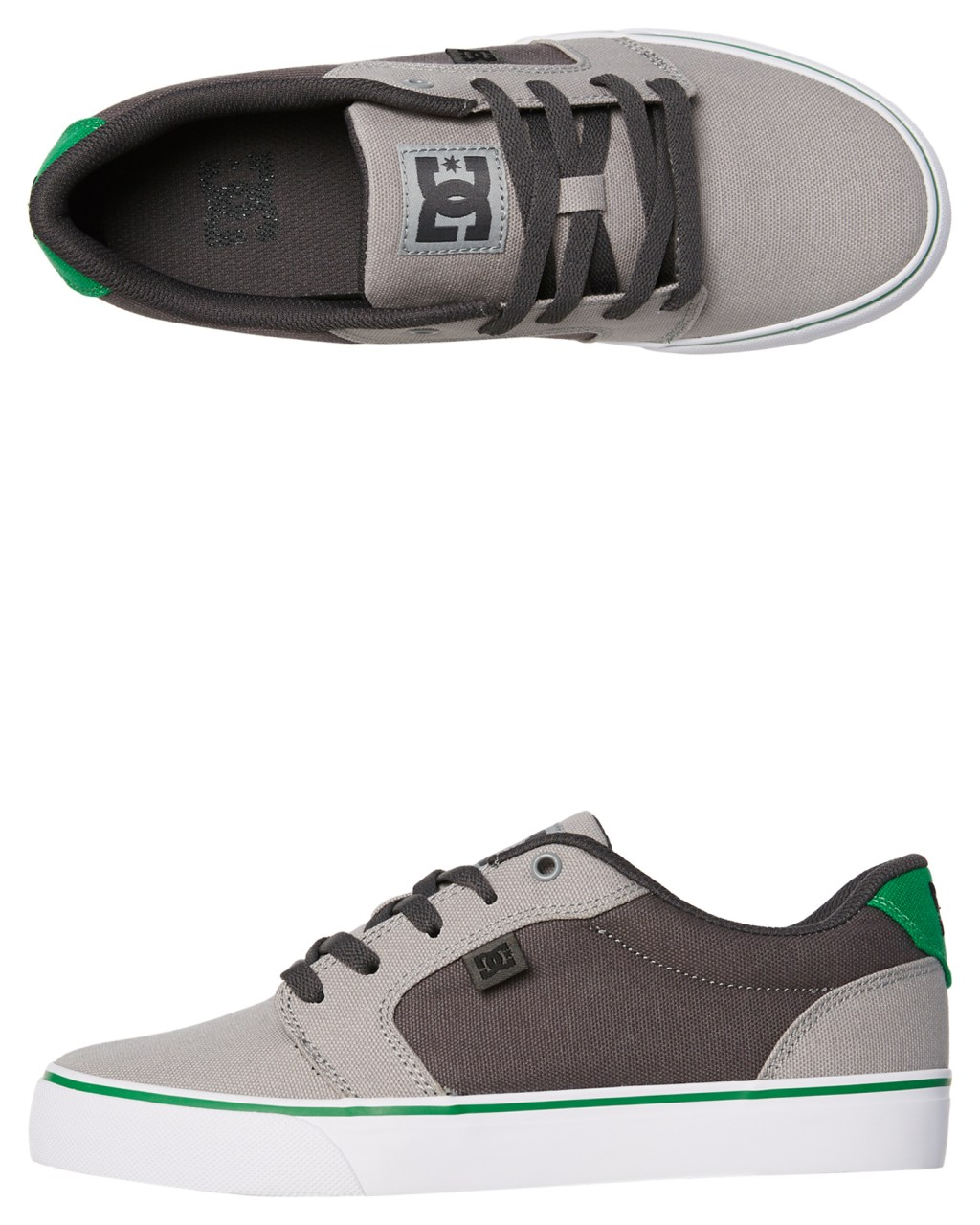 d1f89466b20c Dc Shoes Anvil Tx Grey Grey Green Womens Sneakers Size 8