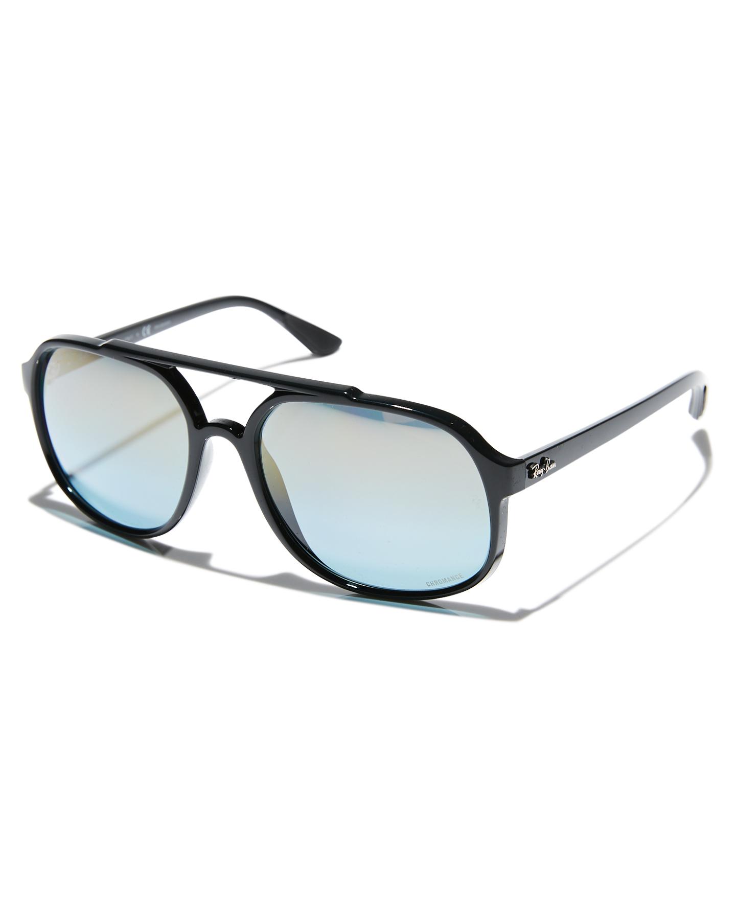 d4e92c383e Ray-Ban Rb4312Ch Sunglasses Black Blue Mirror Mens sunglasses Size ...