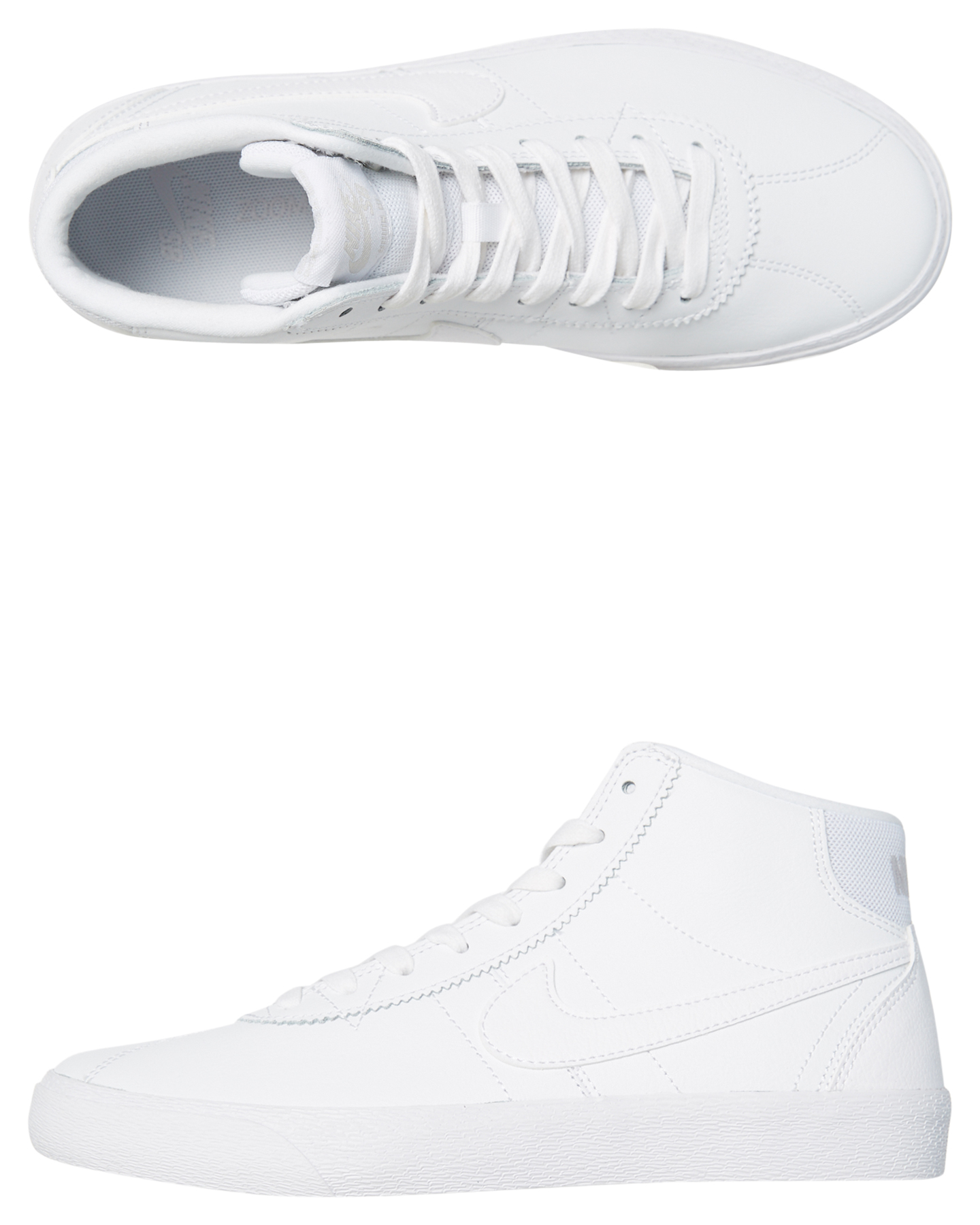 3745c57e7b Nike Sb Bruin Hi Skateboarding Womens Shoe White Womens Sneakers ...