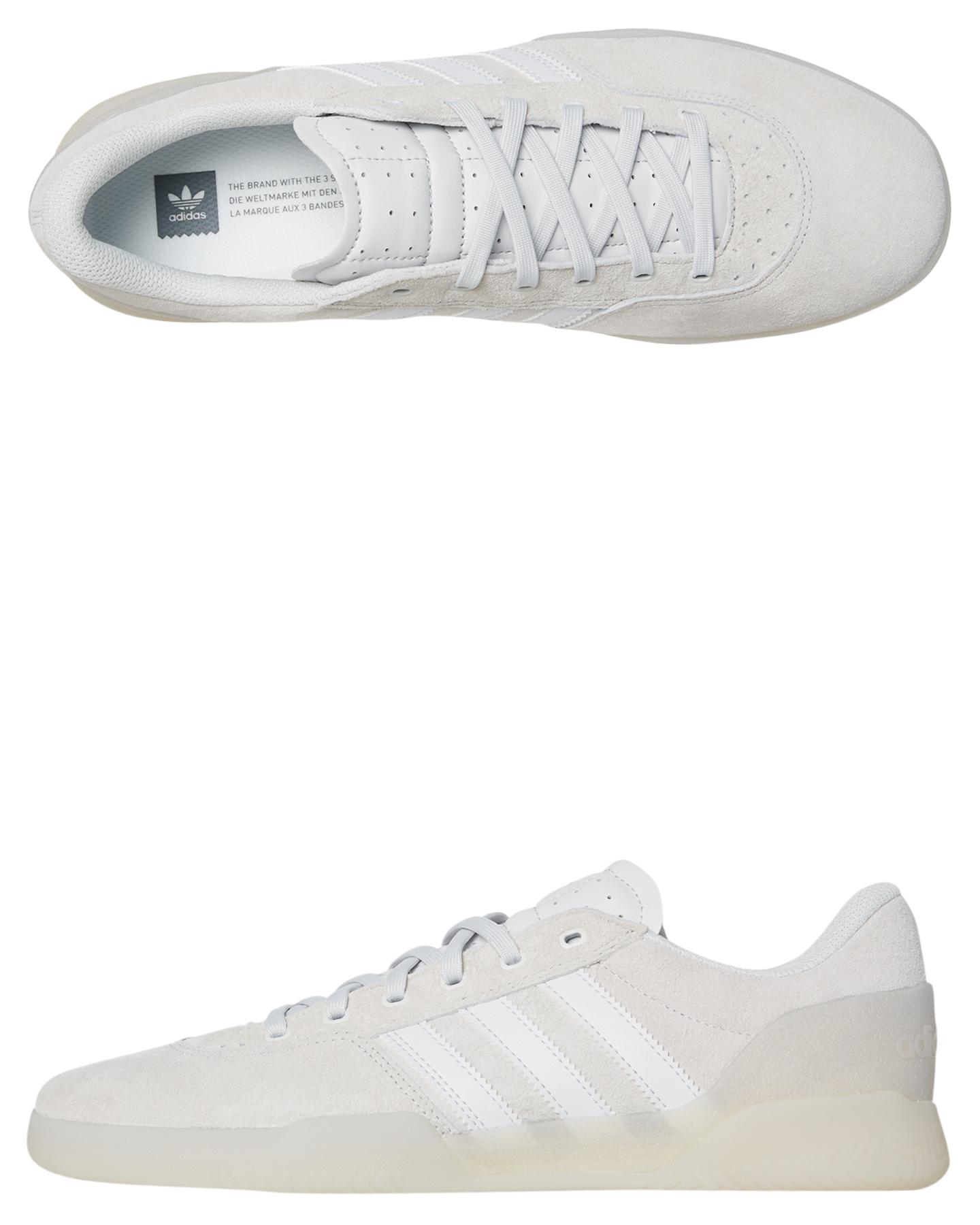 e8eb4e965529b8 Adidas City Cup Leather Shoe White White Shoes Size 8