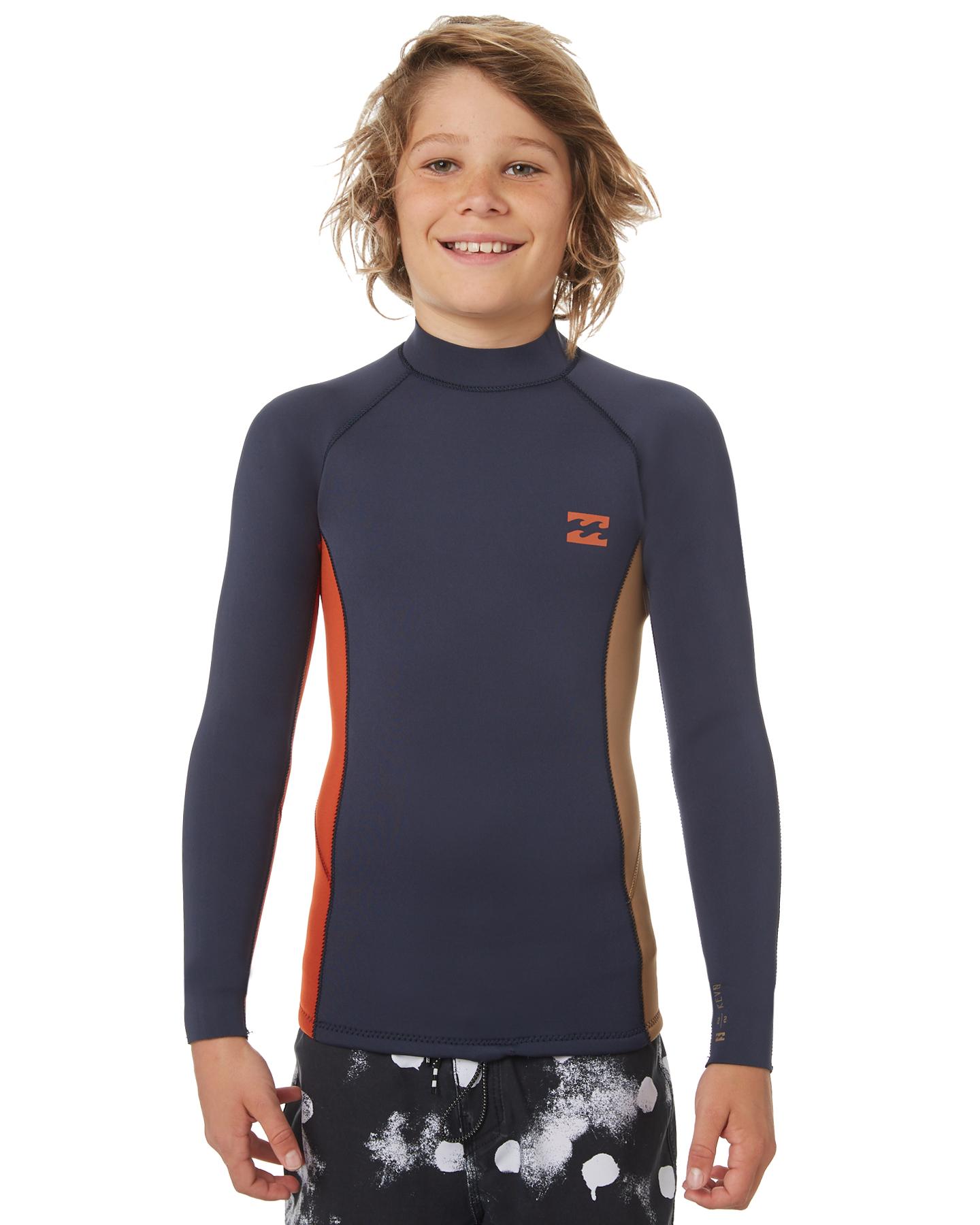 9601cf2fdcb58 Billabong Boys Revolution 202 Wetsuit Jacket Slate Surfing Wetsuits ...