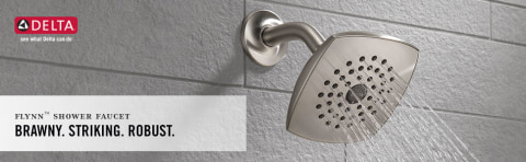 delta flynn stainless 1 handle bathtub and shower faucet with valve