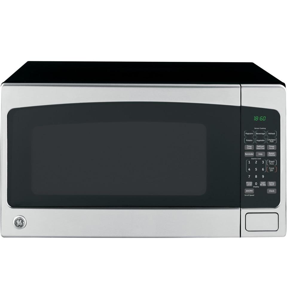 ge 2 cu ft 1200 watt countertop microwave stainless steel