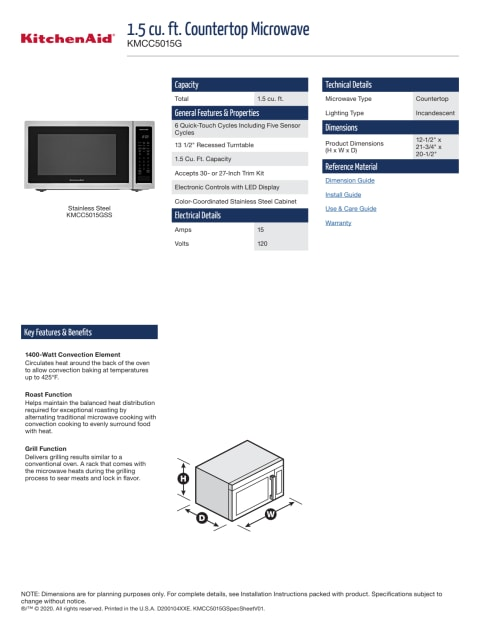 kmcc5015gss kitchenaid 22 1 5 cu ft
