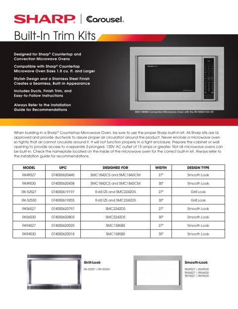 smc2242ds 2 2 cu ft stainless steel