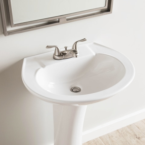aquasource 33 66 in h white vitreous china pedestal sink combo