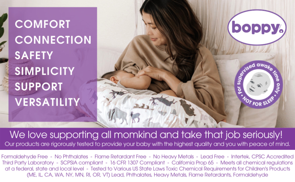 boppy luxe nursing pillow and positioner in hello world